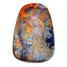 Natural 76.20cts boulder opal brown cabochon 43x27mm fancy loose gemstone s21416
