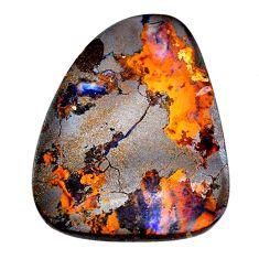 Natural 78.10cts boulder opal brown cabochon 43x35mm fancy loose gemstone s21420