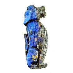 Natural 18.25cts boulder opal brown carving 33x11 mm fancy loose gemstone s22170