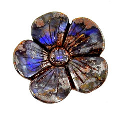 Natural 15.30cts boulder opal carving brown 20x20 mm loose gemstone s16309
