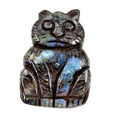 Natural 20.15cts boulder opal carving brown 21.5x15 mm loose gemstone s16313