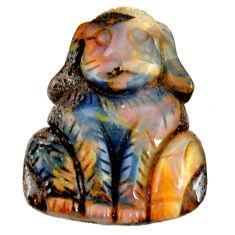 Natural 24.35cts boulder opal carving brown 25x20 mm fancy loose gemstone s16333