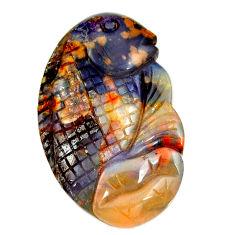 Natural 20.15cts boulder opal carving brown 28x17 mm fancy loose gemstone s16319