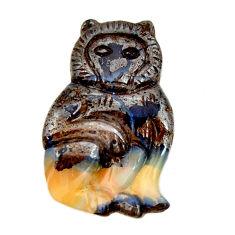 boulder opal carving brown 28x18 mm fancy loose gemstone s16329