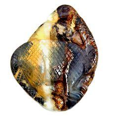 boulder opal carving brown 30x22 mm fancy loose gemstone s16326