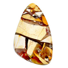 Natural 22.40cts brecciated mookaite cabochon 37x21 mm loose gemstone s24441