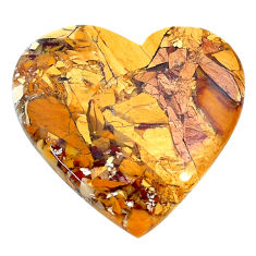 Natural 27.40cts brecciated mookaite yellow 28x26 mm heart loose gemstone s24458