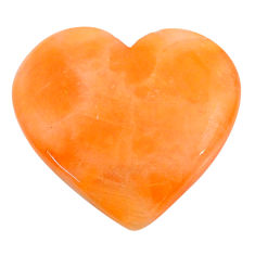Natural 19.35cts calcite orange cabochon 23.5x22 mm heart loose gemstone s24572