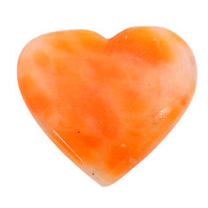Natural 18.35cts calcite orange cabochon 23x21 mm heart loose gemstone s24575