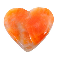 Natural 19.20cts calcite orange cabochon 24x21.5 mm heart loose gemstone s24574