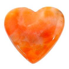 Natural 24.35cts calcite orange cabochon 25x25 mm heart loose gemstone s24580