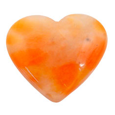 Natural 25.15cts calcite orange cabochon 26x23 mm heart loose gemstone s24573