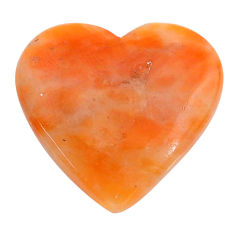 Natural 25.15cts calcite orange cabochon 27x26 mm heart loose gemstone s24579