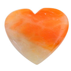 Natural 32.10cts calcite orange cabochon 28x26 mm heart loose gemstone s24578
