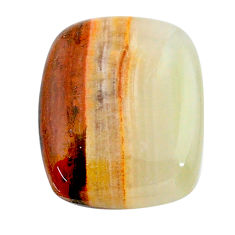 Natural 17.40cts calcite yellow cabochon 21x17 mm cushion loose gemstone s24589