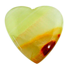 Natural 24.45cts calcite yellow cabochon 25x25 mm heart loose gemstone s24599