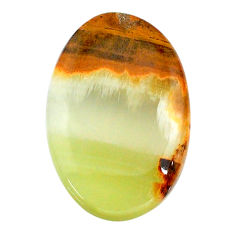 Natural 15.10cts calcite yellow cabochon 26x17 mm oval loose gemstone s24582