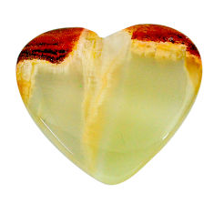 Natural 22.40cts calcite yellow cabochon 27.5x24 mm heart loose gemstone s24596