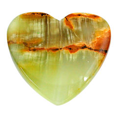 Natural 27.40cts calcite yellow cabochon 27x26 mm heart loose gemstone s24600