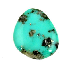 Natural 6.25cts campitos turquoise green 18x15 mm fancy loose gemstone s16619