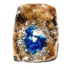Natural 31.30cts cavansite blue cabochon 25.5x19mm octagan loose gemstone s21981