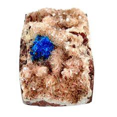 Natural 37.40cts cavansite blue cabochon 26.5x19mm octagan loose gemstone s21985