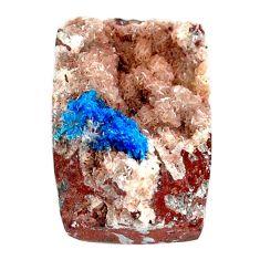 Natural 34.15cts cavansite blue cabochon 26x17.5mm octagan loose gemstone s21982