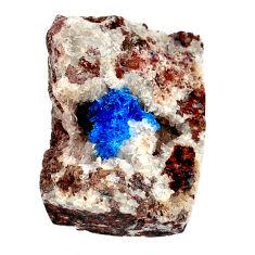 Natural 42.45cts cavansite blue cabochon 27x20 mm octagan loose gemstone s21991