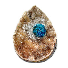 Natural 26.25cts cavansite blue cabochon 30x21 mm pear loose gemstone s22017