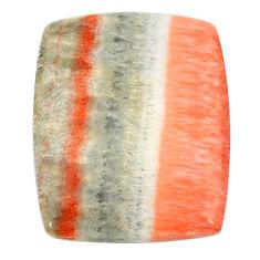 Natural 30.65cts celestobarite orange 25x20 mm octagan loose gemstone s22576