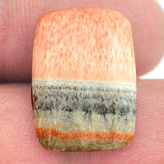Natural 15.10cts celestobarite orange cabochon 19x13.5 mm loose gemstone s23645
