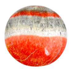 Natural 18.10cts celestobarite orange cabochon 19x19 mm loose gemstone s19832