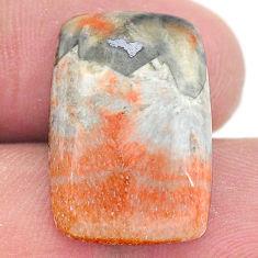 Natural 21.30cts celestobarite orange cabochon 21x14 mm loose gemstone s23678