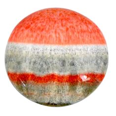 Natural 21.25cts celestobarite orange cabochon 21x21 mm loose gemstone s19831