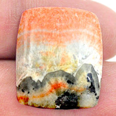 Natural 31.30cts celestobarite orange cabochon 22x18 mm loose gemstone s23659