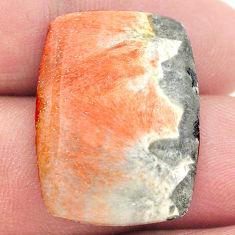 Natural 29.05cts celestobarite orange cabochon 26x19 mm loose gemstone s23657