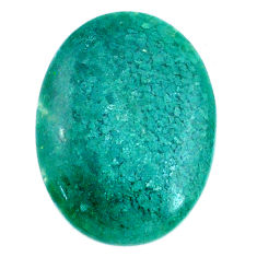 Natural 20.10cts chalcedony green cabochon 27x20 mm oval loose gemstone s20593