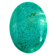 Natural 22.35cts chalcedony green cabochon 28x20 mm oval loose gemstone s20587
