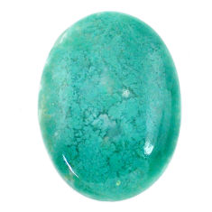 Natural 26.30cts chalcedony green cabochon 28x20 mm oval loose gemstone s20600