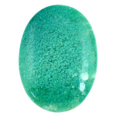 Natural 25.10cts chalcedony green cabochon 30x21.5 mm oval loose gemstone s20598