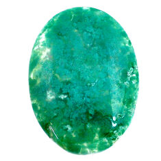 Natural 29.35cts chalcedony green cabochon 31x22 mm oval loose gemstone s20586