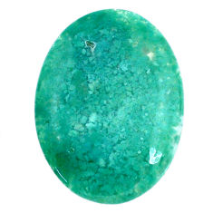 Natural 29.45cts chalcedony green cabochon 32x23.5 mm oval loose gemstone s20592