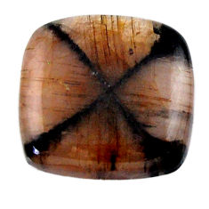 Natural 19.45cts chiastolite brown cabochon 19x18 mm loose gemstone s19243