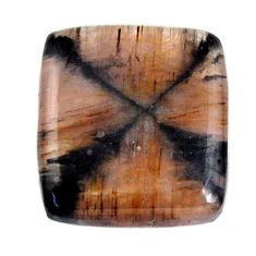 Natural 23.10cts chiastolite brown cabochon 20x18 mm loose gemstone s19268