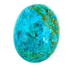 Natural 13.15cts chrysocolla green cabochon 20x15 mm oval loose gemstone s21255