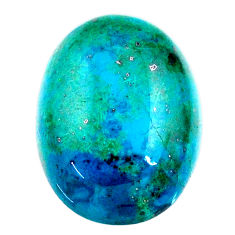 Natural 15.10cts chrysocolla green cabochon 20x15 mm oval loose gemstone s21274