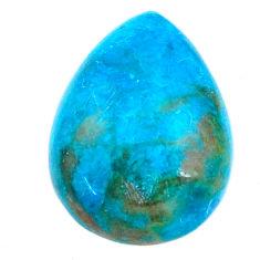 Natural 13.25cts chrysocolla green cabochon 20x15 mm pear loose gemstone s21257