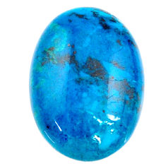 Natural 25.10cts chrysocolla green cabochon 24x17mm oval loose gemstone s21247