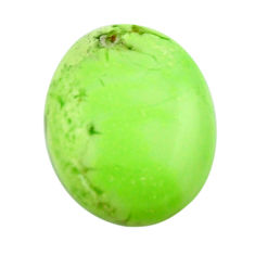 Natural 12.40cts chrysoprase lemon cabochon 20x15 mm loose gemstone s17546