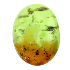 Natural 16.30cts chrysoprase lemon cabochon 21x15 mm oval loose gemstone s17568